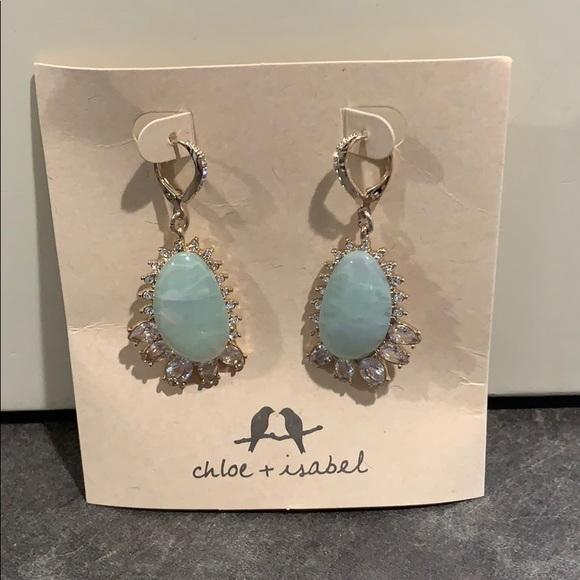 Chloe + Isabel Jewelry - Chloe + Isabel Emerald Green Leaver back earrings